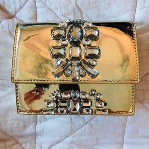 Zara Gold Crossbody Bag